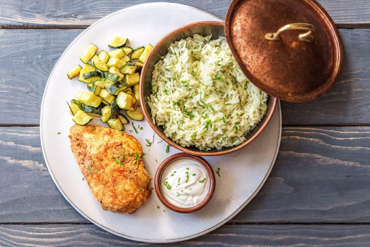 Berbere Chicken and Zucchini