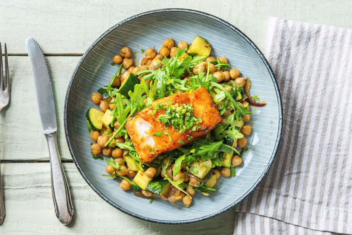 Spanish-Style Cod with Chickpeas