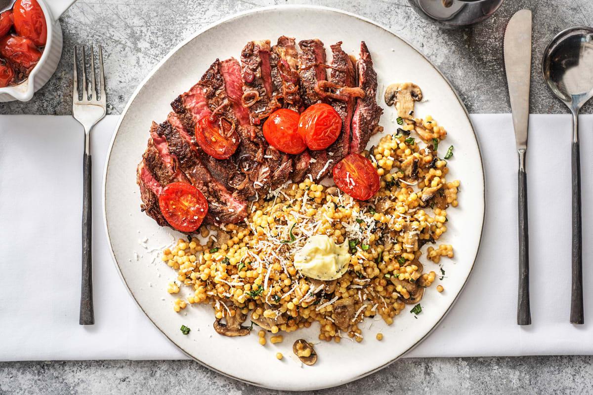 20 oz Rib-Eye Steak in a Tomato Balsamic Sauce