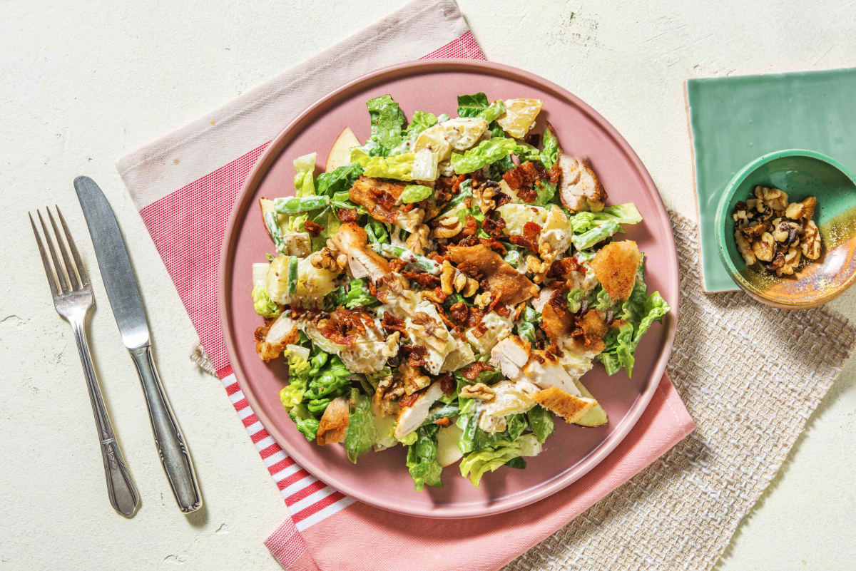 Waldorf Salad Style Salad with Chicken and Bacon