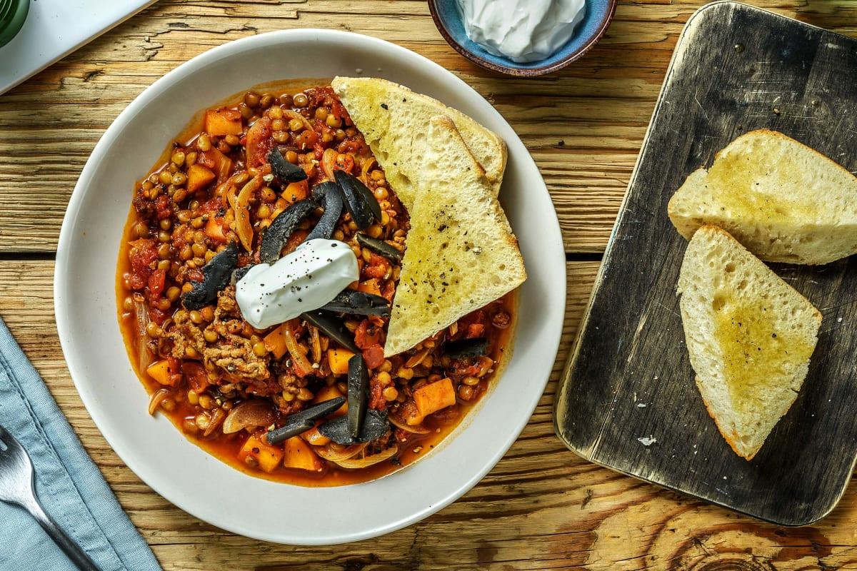 Warming Beef Harira Style Soup