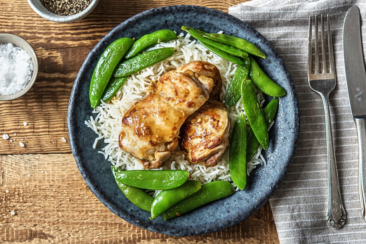 Warmly Spiced Chicken Thighs