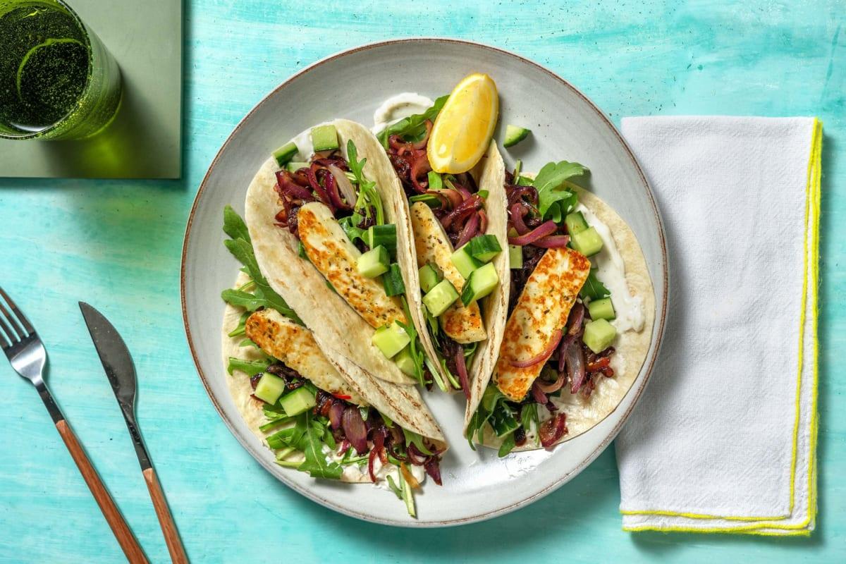 Würzig-feurige Halloumi-Tacos