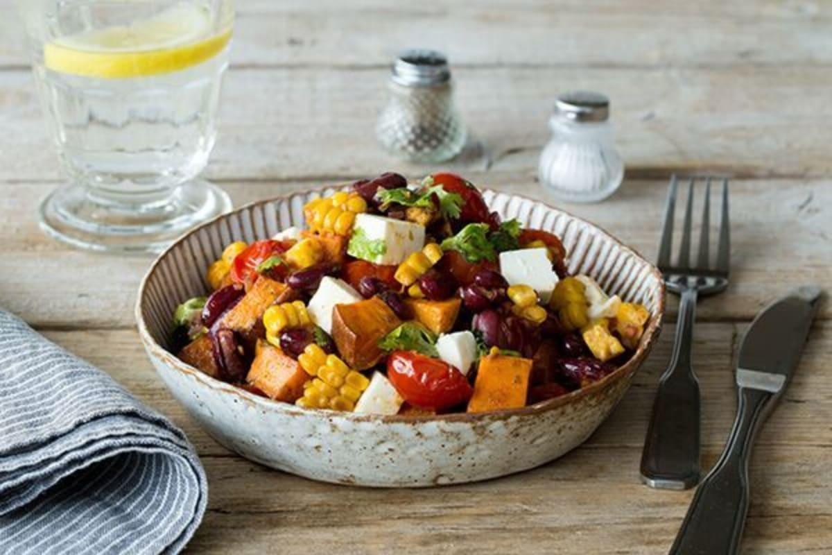 Zesty Corn & Red Bean Salad