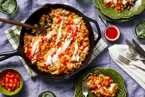 Southwest Chicken Sausage and Rice Skillet image