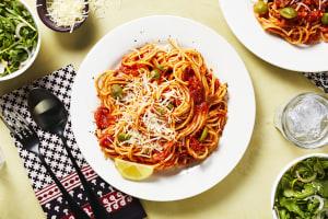 Green Olive Pasta Puttanesca image