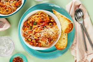 Cremini and Zucchini Spaghetti image