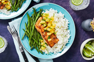 Blackened Barramundi and Pineapple Salsa image
