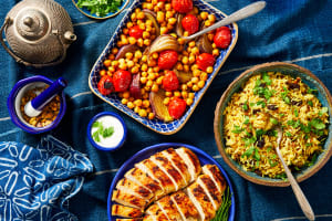 Persian Chicken and Roasted Veggies image
