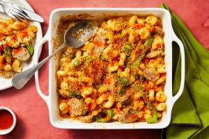 Pork Sausage Cavatappi Bake image