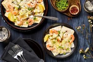 Lobster Ravioli and Shrimp in a Lemon Cream Sauce image