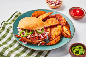 Picnic Pulled BBQ Chicken Sandwiches image