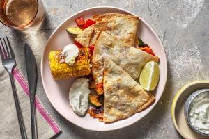 3-Käse-Quesadillas mit Varomagemüse image