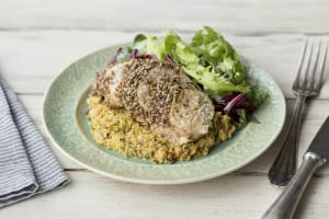 Dukkah Chicken with Spicy Carrot Hummus image