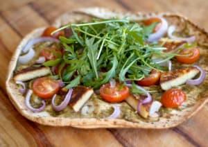 Basil Pesto Haloumi Pizza image