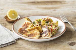Crispy Haloumi with Spiced Herb Potatoes image