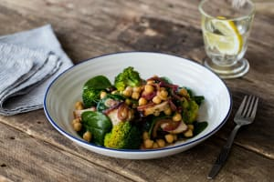 Lemon Rosemary Pork with Balsamic Chickpea Salad image
