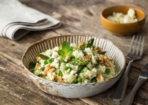 Creamy Pea & Asparagus Risotto image