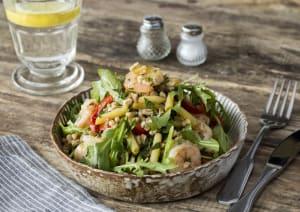 Warm Farro & Shrimp Bowl image