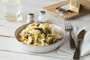 Creamy Orecchiette with Brussels Sprouts and Wild Mushrooms image
