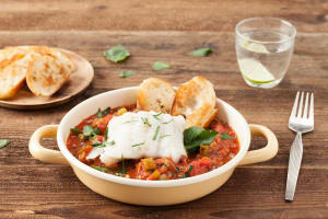 Cod Cioppino in Tomato Stew with Toasted Baguette image