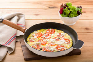 Greek Frittata with Mixed Leaves image