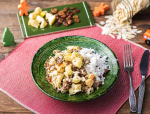 Zuid-Afrikaanse boboti met rundergehakt, bloemkool en rijst image
