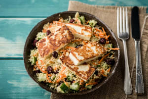 Haloumi with Jewelled Couscous Salad image