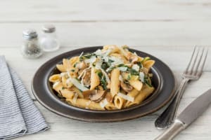 Swiss Chard & Wild Mushroom Penne with Chili and Parmesan image