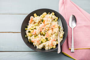 Shrimp & Lemon Risotto with Roasted Zucchini and Parmesan image