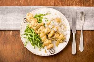 Family Chicken Satay Skewers with Rice image