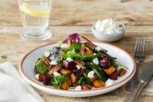 Roast Vegetable, Pecan & Goat Cheese Salad image