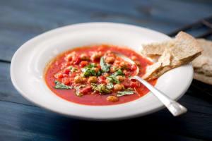 Crispy Chickpea and Tomato Soup image
