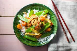 Pumpkin & Pea Stir Fry image