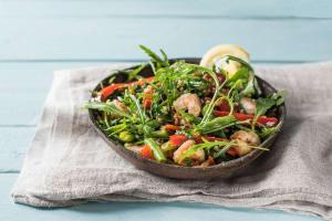 Warm Shrimp and Farro Salad image