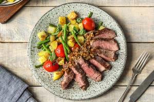 Steak and Crispy Potato Salad image