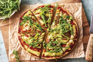 (Vegetarian) Speedy Basil Pesto Pizza image