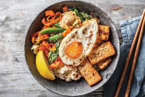 (Vegetarian) Korean Teriyaki Tofu Bibimbap image