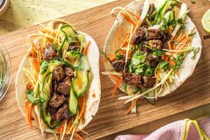 Koreaanse biefstukwraps met groenten image