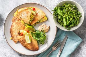 Quesadilla met groenten en cheddar image