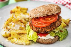Saftiger Beef-Karotten-Burger image