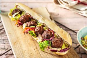 Bánh mì aux boulettes de viande image