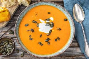 Soupe de poivron et de patates douces image