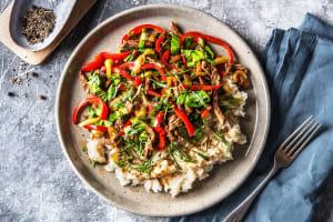 Émincé de bœuf et pak-choï au wok image