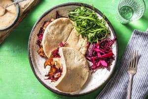 Pittige vegetarische shoarma van koningsoesterzwam image