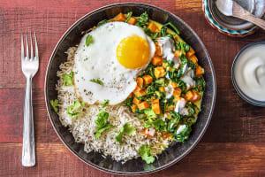 Riz au curry d'épinards et de patates douces image