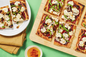 Green Pepper and Black Olive Flatbread image