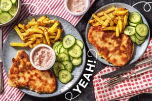 Schnitzel mit Ofenpommes image
