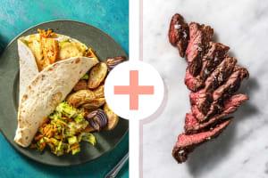 Scharfe Halloumi-Wraps mit Steakstreifen image