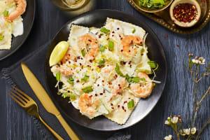 Creamy Lemon Lobster Ravioli and Shrimp image